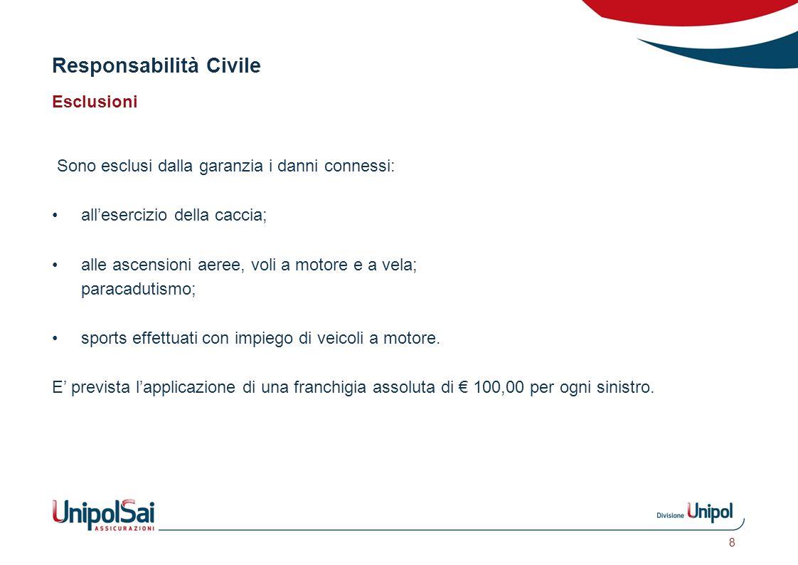 Responsabilità Civile Garanzia riservata ai CIRCOLI polizza n. 418/65/50768592