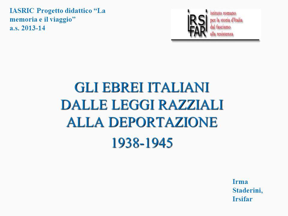 La svolta antiebraica del regime L'antisemitismo non esiste in Italia (…).