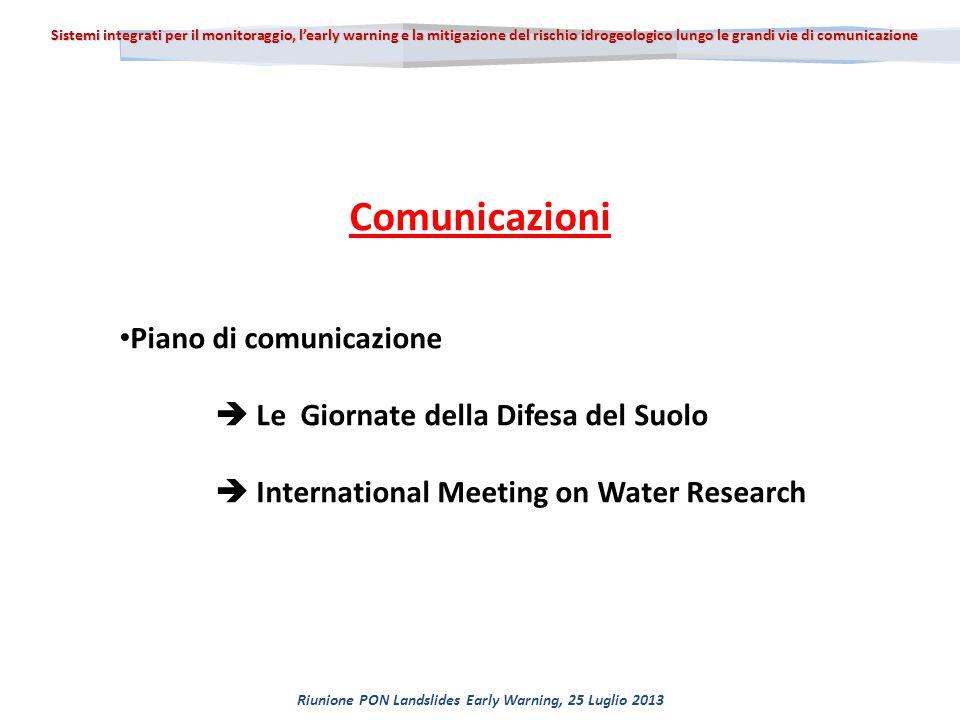 16 seminari Inizio ottobre 2013 fine giugno 2014 Le Giornate della Difesa del Suolo 2.1 Azioni di promozione dell ' intervento progettuale Piano di Comunicazione difesadelsuolo@gmail.com