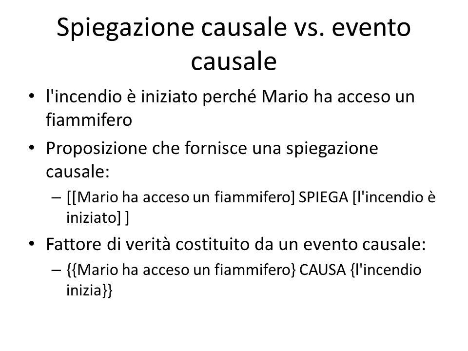 DOMANDE La relazione CAUSA, che presumibilmente lega due eventi, è – analizzabile (a priori).