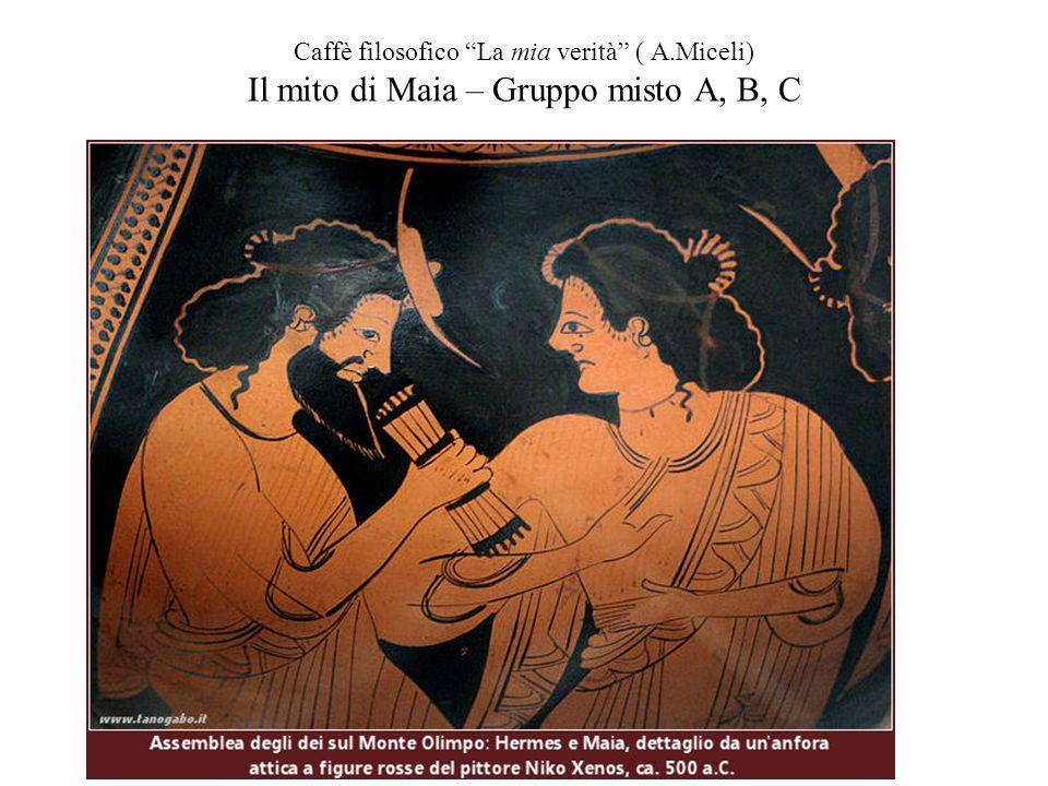 """Caffè filosofico """"La mia verità"""" ( A.Miceli) Il mito di Maia – Gruppo misto A, B, C"""