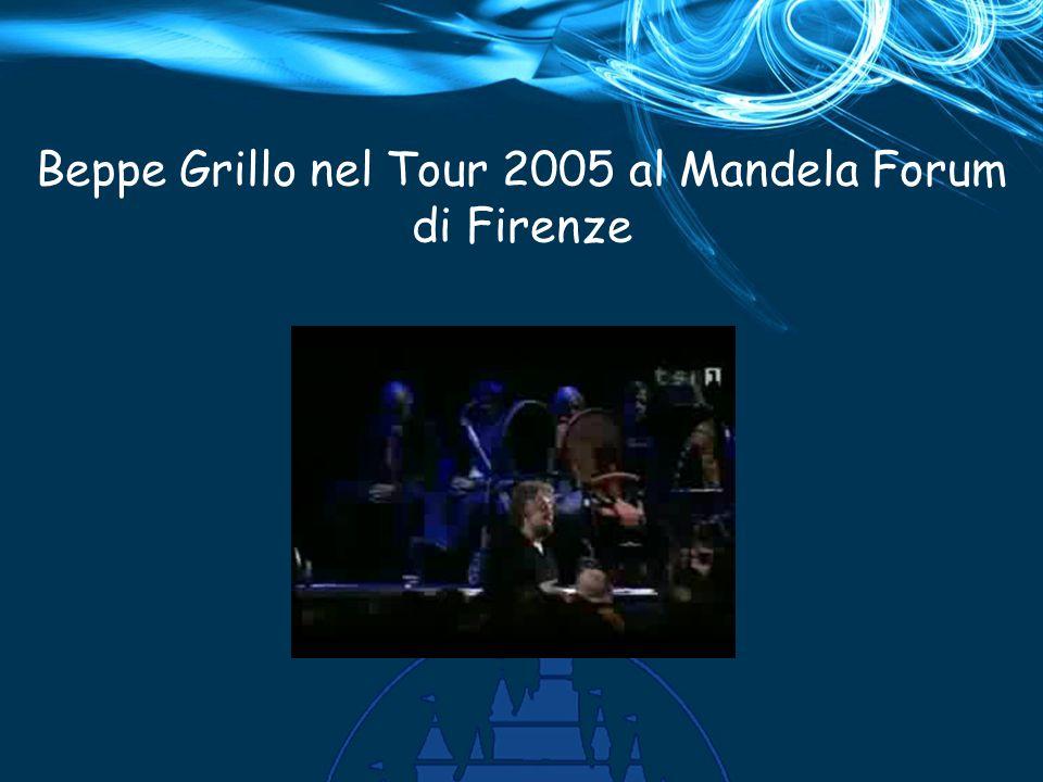Beppe Grillo nel Tour 2005 al Mandela Forum di Firenze