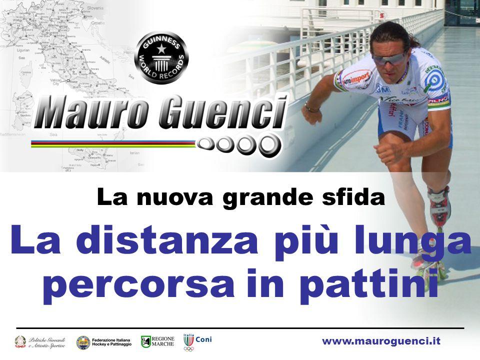 La nuova grande sfida La distanza più lunga percorsa in pattini www.mauroguenci.it