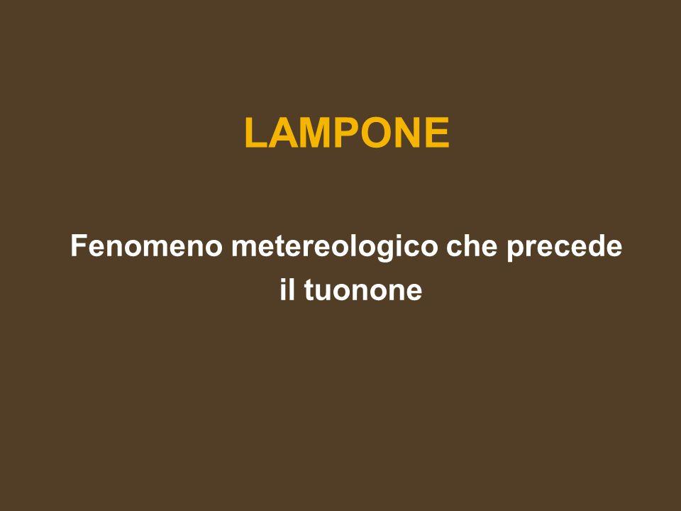 LAMPONE Fenomeno metereologico che precede il tuonone