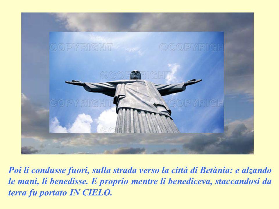 """Voi siete miei testimoni, per questo restate in città e presto riceverete ciò che vi ho promesso: la potenza dello Spirito Santo!""""."""