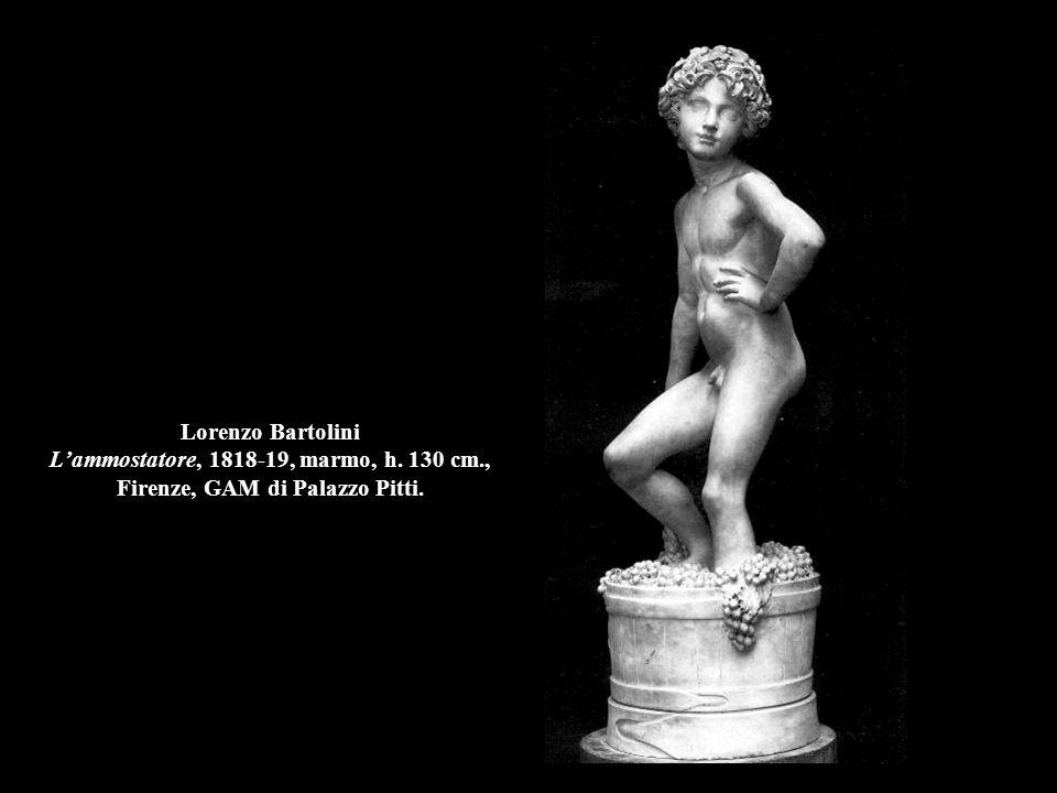 Lorenzo Bartolini L'ammostatore, 1818-19, marmo, h. 130 cm., Firenze, GAM di Palazzo Pitti.