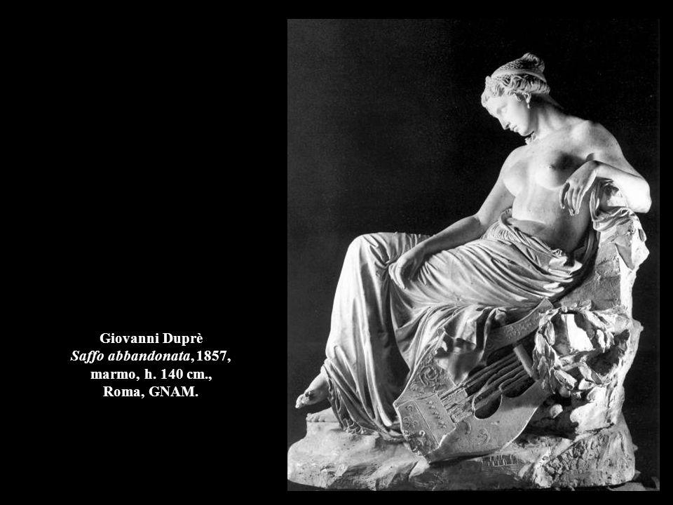 Giovanni Duprè Saffo abbandonata, 1857, marmo, h. 140 cm., Roma, GNAM.