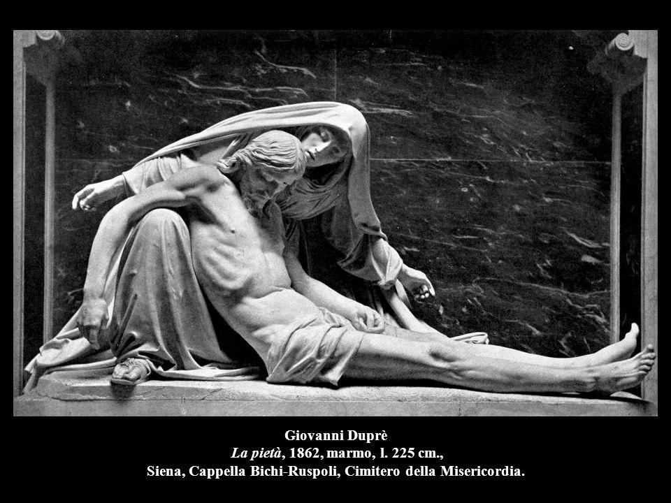 Giovanni Duprè La pietà, 1862, marmo, l. 225 cm., Siena, Cappella Bichi-Ruspoli, Cimitero della Misericordia.