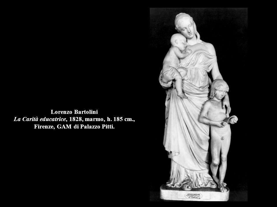 Giovanni Maria Benzoni Fuga da Pompei, 1868, marmo, h. 178 cm., coll.priv.