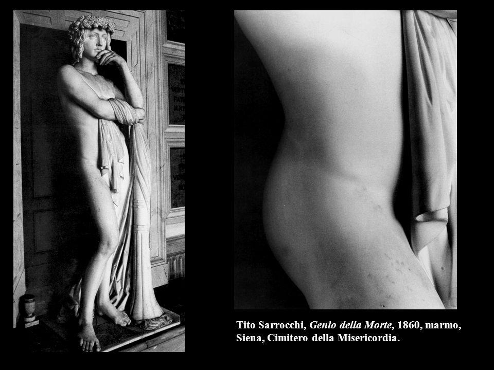 Tito Sarrocchi, Genio della Morte, 1860, marmo, Siena, Cimitero della Misericordia.