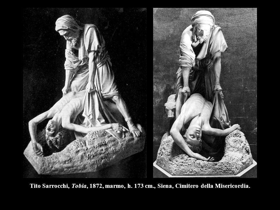 Tito Sarrocchi, Tobia, 1872, marmo, h. 173 cm., Siena, Cimitero della Misericordia.