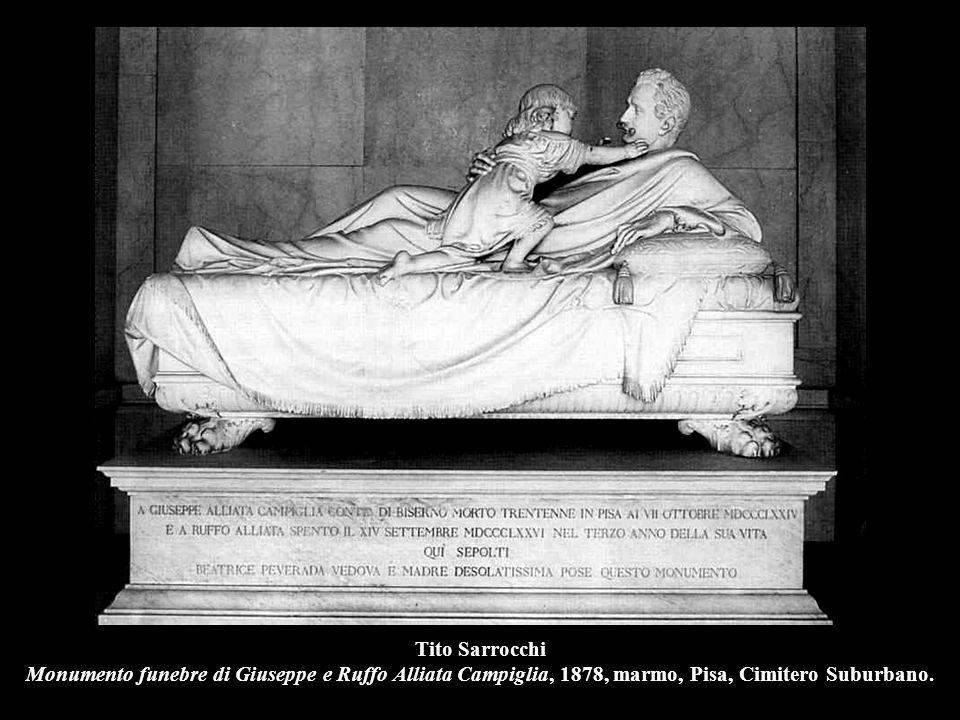 Tito Sarrocchi Monumento funebre di Giuseppe e Ruffo Alliata Campiglia, 1878, marmo, Pisa, Cimitero Suburbano.