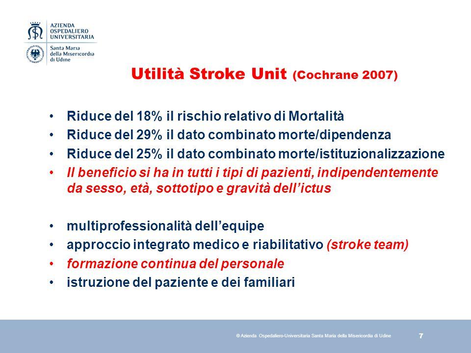 18 © Azienda Ospedaliero-Universitaria Santa Maria della Misericordia di Udine Goal Stroke