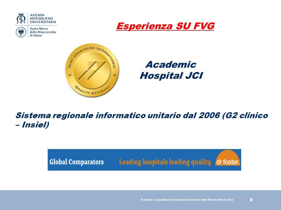19 © Azienda Ospedaliero-Universitaria Santa Maria della Misericordia di Udine Check-list Ictus (obbiettivo JCI)