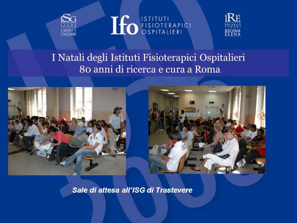 I Natali degli Istituti Fisioterapici Ospitalieri 80 anni di ricerca e cura a Roma Sale di attesa all'ISG di Trastevere