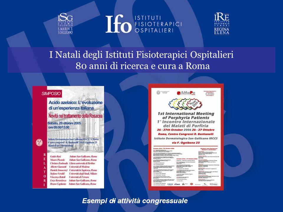 I Natali degli Istituti Fisioterapici Ospitalieri 80 anni di ricerca e cura a Roma Esempi di attività congressuale