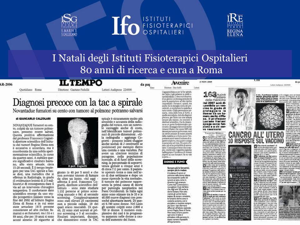 I Natali degli Istituti Fisioterapici Ospitalieri 80 anni di ricerca e cura a Roma