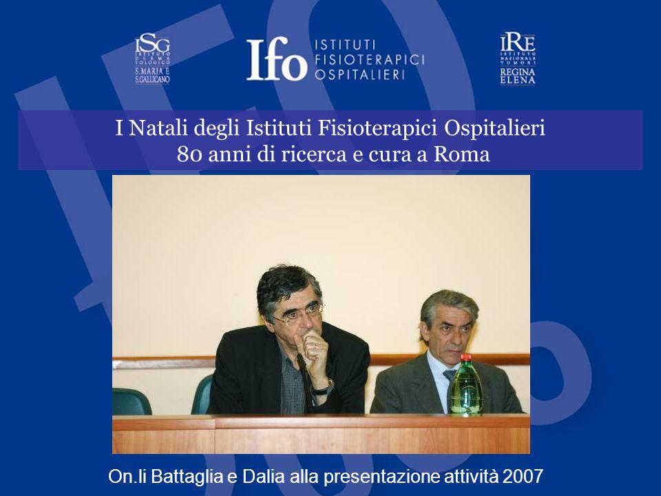I Natali degli Istituti Fisioterapici Ospitalieri 80 anni di ricerca e cura a Roma On.li Battaglia e Dalia alla presentazione attività 2007