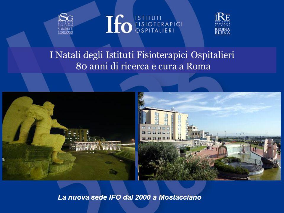 I Natali degli Istituti Fisioterapici Ospitalieri 80 anni di ricerca e cura a Roma La nuova sede IFO dal 2000 a Mostacciano
