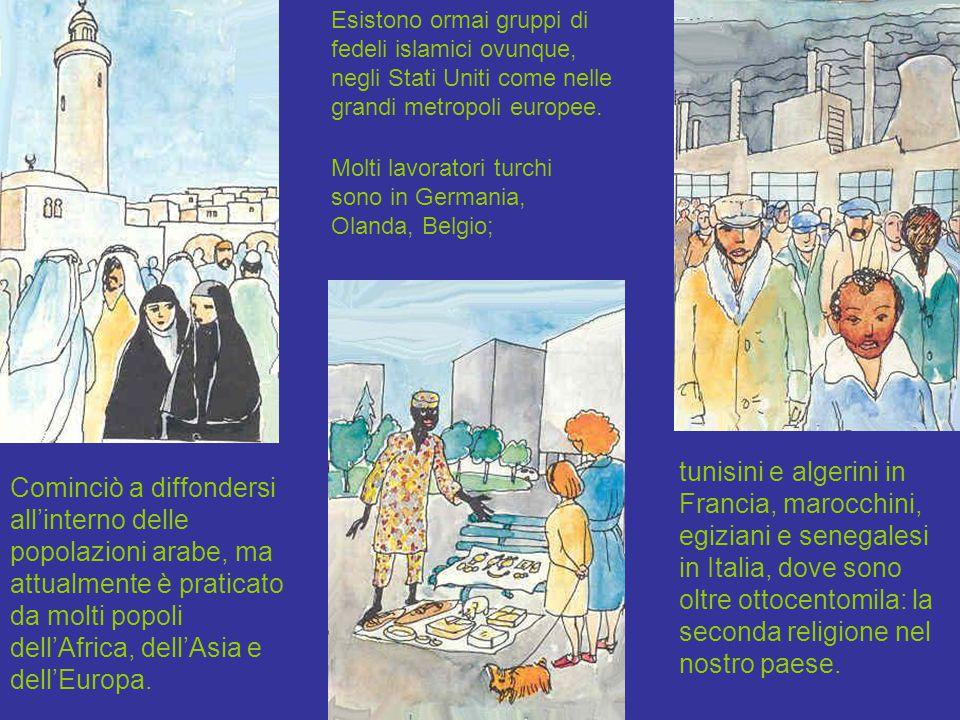 Cominciò a diffondersi all'interno delle popolazioni arabe, ma attualmente è praticato da molti popoli dell'Africa, dell'Asia e dell'Europa. tunisini