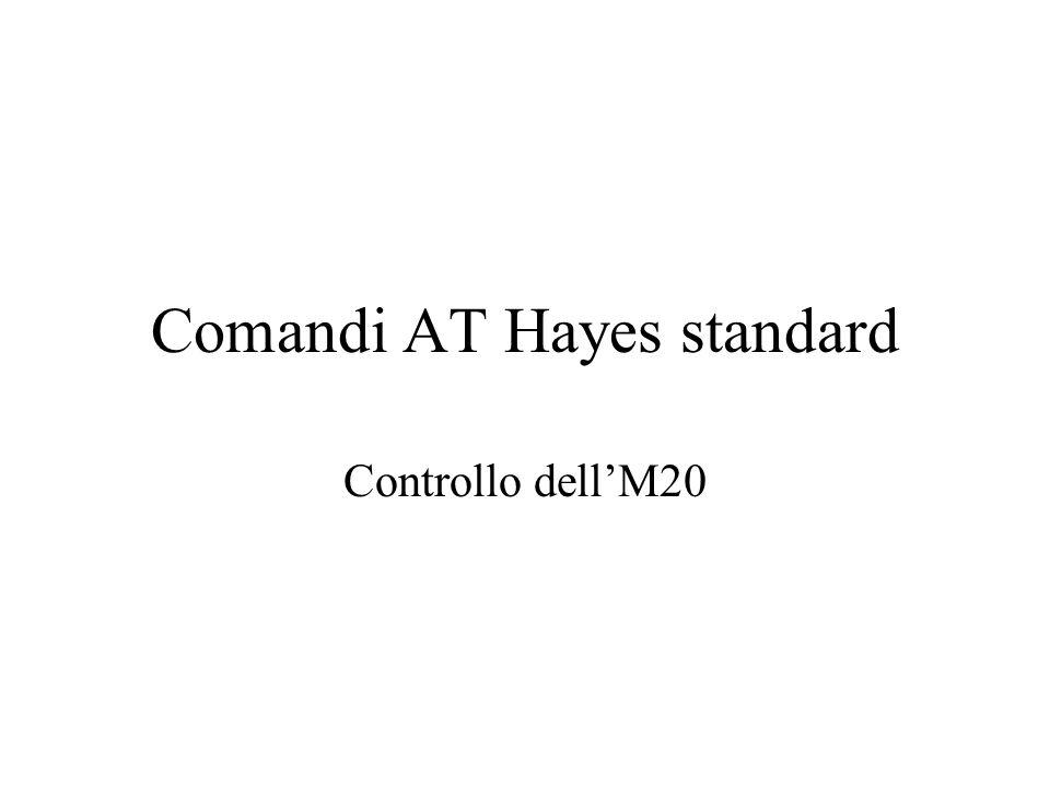 Comandi AT Hayes standard Controllo dell'M20