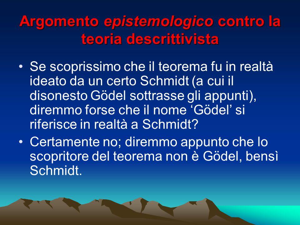 Se scoprissimo che il teorema fu in realtà ideato da un certo Schmidt (a cui il disonesto Gödel sottrasse gli appunti), diremmo forse che il nome 'Göd