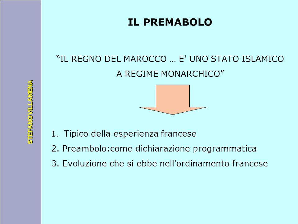 """Università degli Studi di Perugia STEFANO VILLAMENA IL PREMABOLO """"IL REGNO DEL MAROCCO … E' UNO STATO ISLAMICO A REGIME MONARCHICO"""" 1. Tipico della es"""