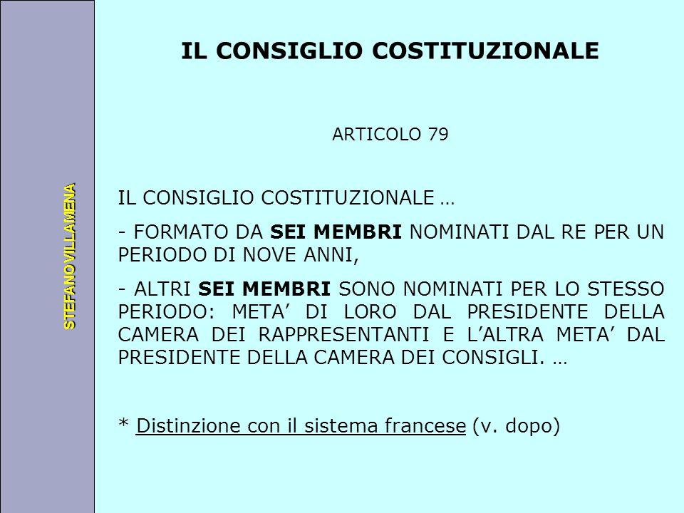 Università degli Studi di Perugia STEFANO VILLAMENA IL CONSIGLIO COSTITUZIONALE ARTICOLO 79 IL CONSIGLIO COSTITUZIONALE … - FORMATO DA SEI MEMBRI NOMI
