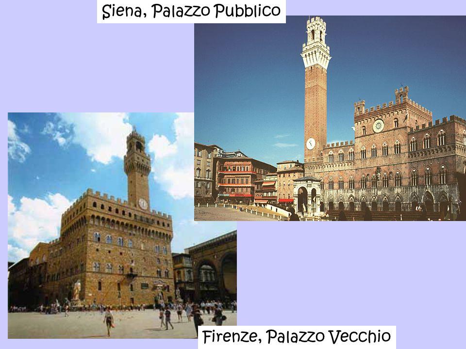 Firenze, Palazzo Vecchio Siena, Palazzo Pubblico