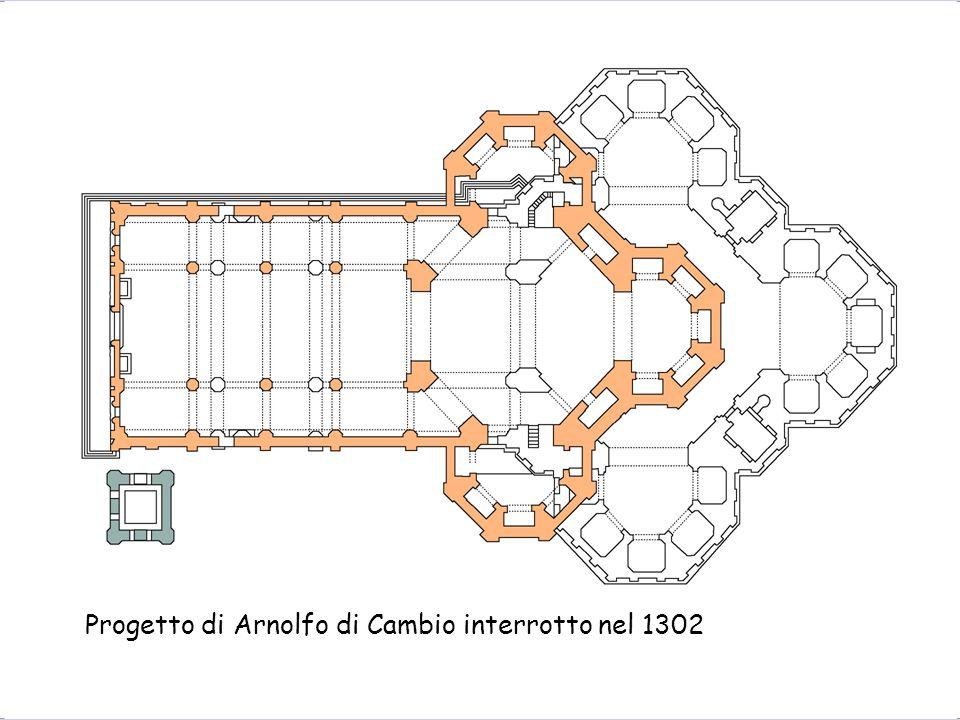 Progetto di Arnolfo di Cambio interrotto nel 1302