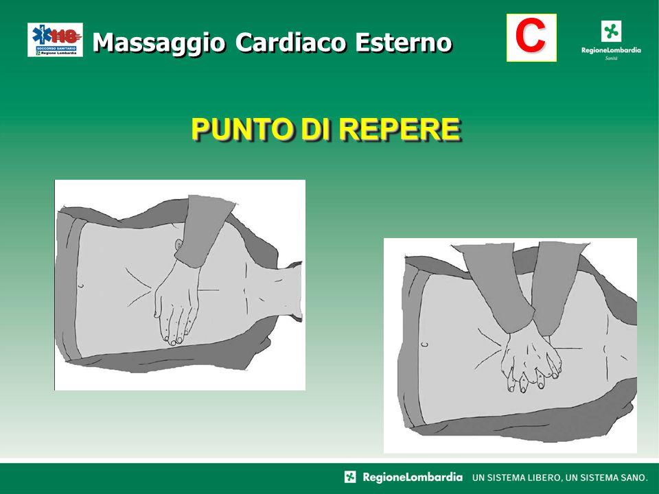 PUNTO DI REPERE C Massaggio Cardiaco Esterno