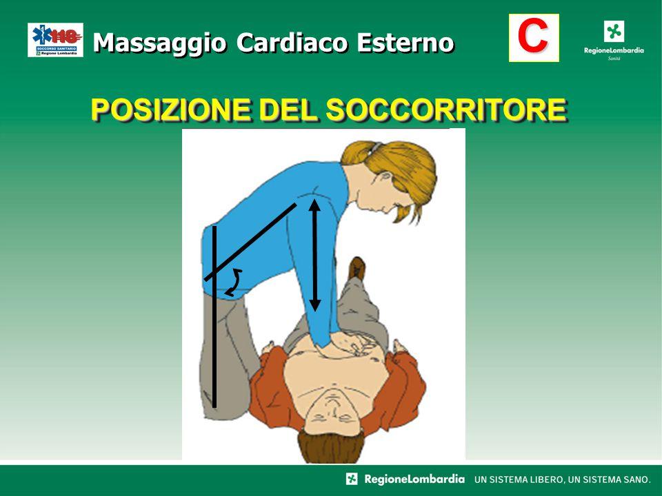POSIZIONE DEL SOCCORRITORE C Massaggio Cardiaco Esterno