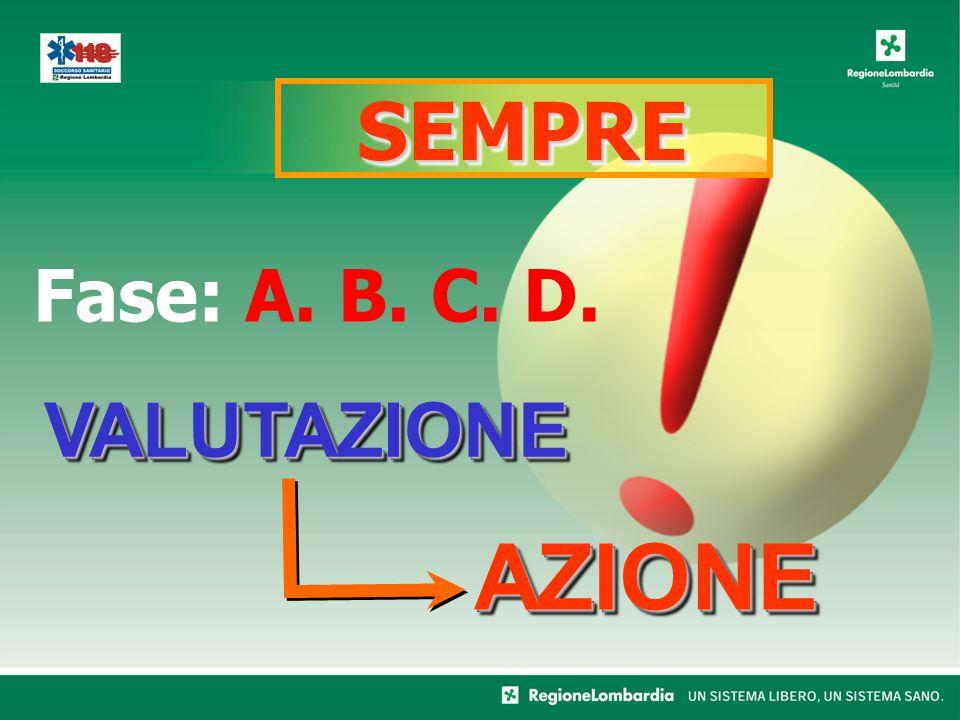 SEMPRESEMPRE VALUTAZIONEVALUTAZIONE AZIONEAZIONE Fase: A. B. C. D.