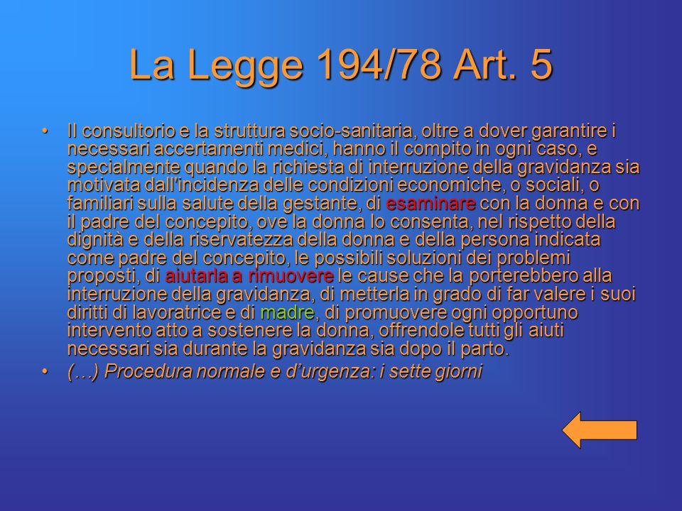 La Legge 194/78 Art.