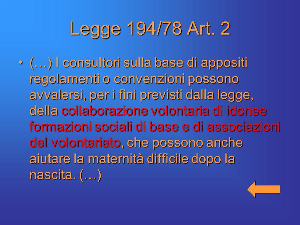Legge 194/78 Art.