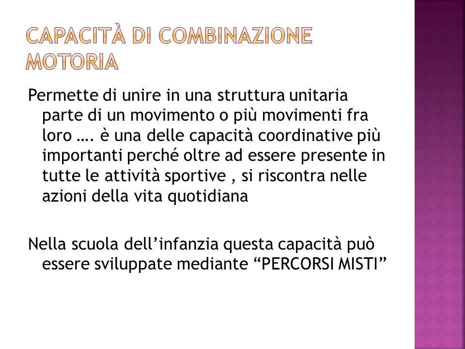 Permette di unire in una struttura unitaria parte di un movimento o più movimenti fra loro ….