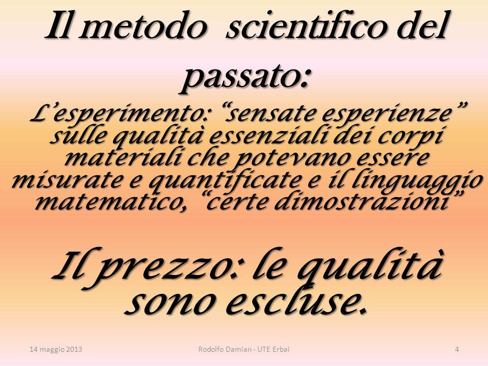 12 marzo 2012 Bergamo Università 15 Prima, la Mente crede Rodolfo Damiani