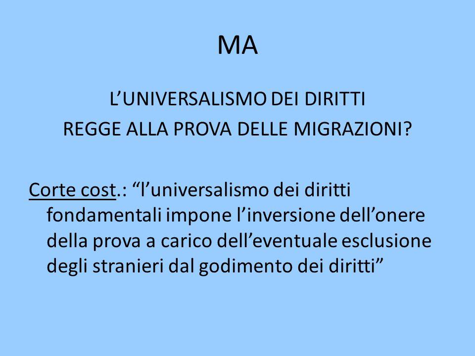 MA L'UNIVERSALISMO DEI DIRITTI REGGE ALLA PROVA DELLE MIGRAZIONI.