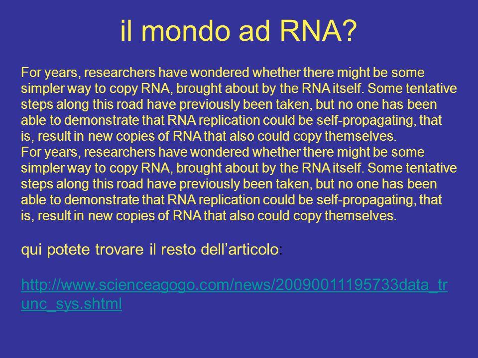 genomi sia a RNA che a DNA contengono l'informazione genetica della specie di appartenenza quindi il genoma è il depositario dell'informazione (genetica) della specie che deve essere invariabile ossimoro: come fa ad essere invariabile ed al tempo stesso variato lungo l'evoluzione