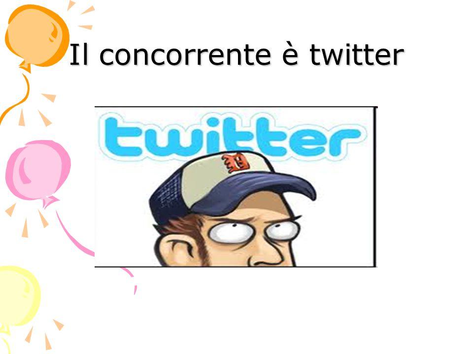 Il concorrente è twitter