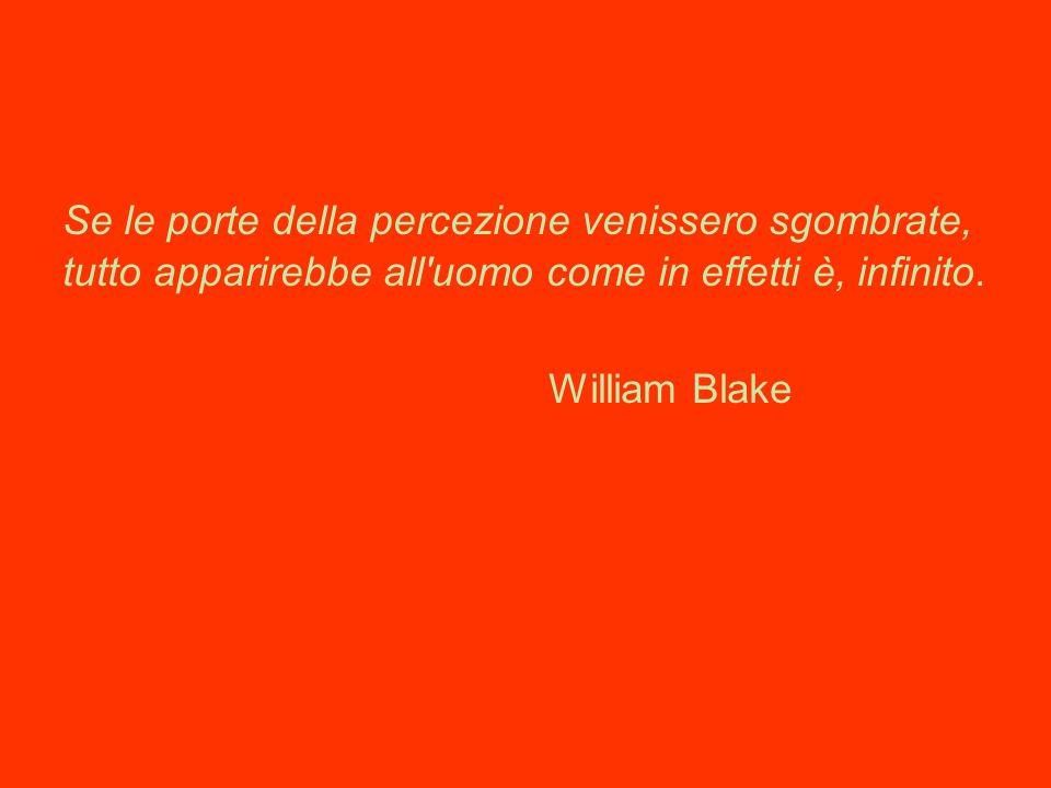 Se le porte della percezione venissero sgombrate, tutto apparirebbe all'uomo come in effetti è, infinito. William Blake
