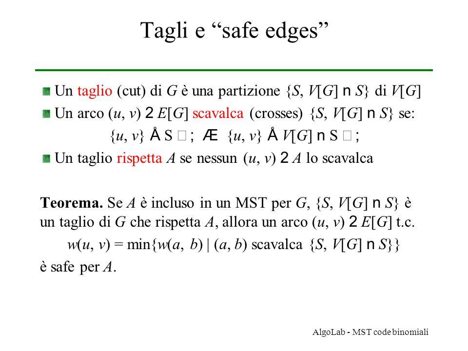 AlgoLab - MST code binomiali MST-Mergeable-Heap MST-Mergeable-Heap(G) // G grafo pesato, non orientato, connesso 1.