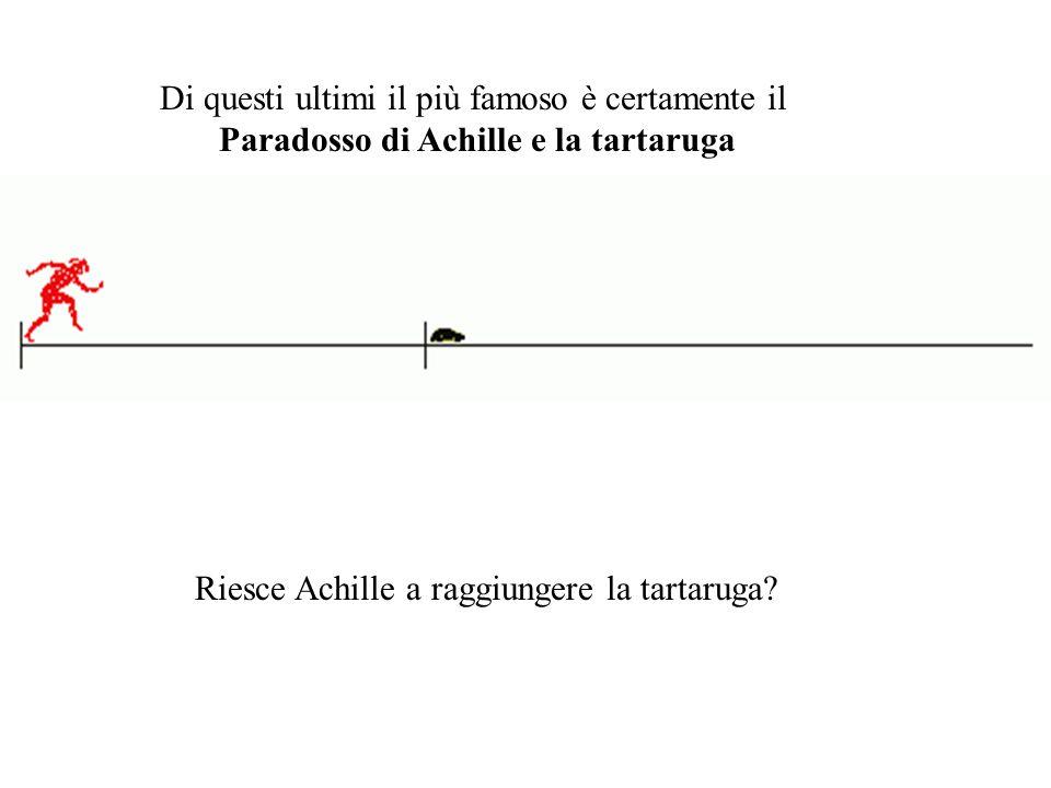 Riesce Achille a raggiungere la tartaruga? Di questi ultimi il più famoso è certamente il Paradosso di Achille e la tartaruga
