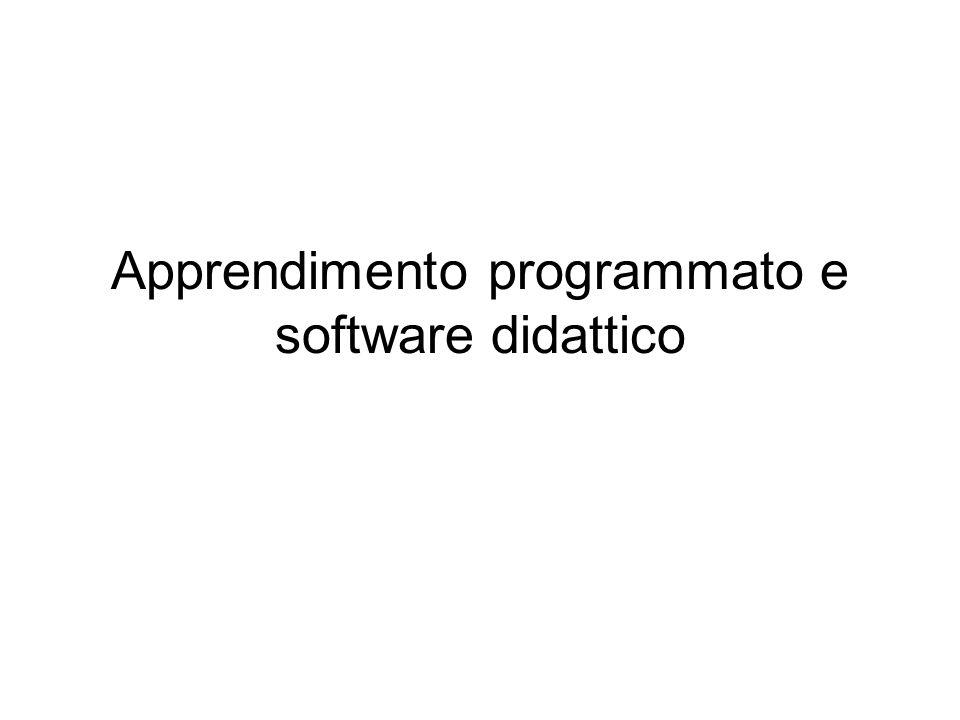 Apprendimento programmato e software didattico