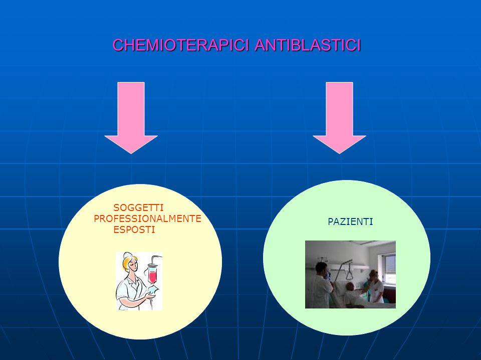 CHEMIOTERAPICI ANTIBLASTICI CHEMIOTERAPICI ANTIBLASTICI SOGGETTI PROFESSIONALMENTE ESPOSTI PAZIENTI