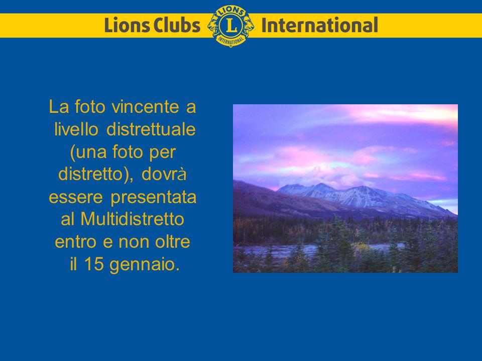 La foto vincente a livello multidistrettuale (una foto soltanto), dovrà essere presentata alla Sede Internazionale entro e non oltre il 1 marzo.