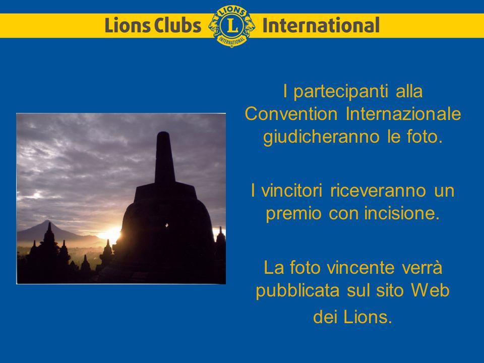 I partecipanti alla Convention Internazionale giudicheranno le foto.