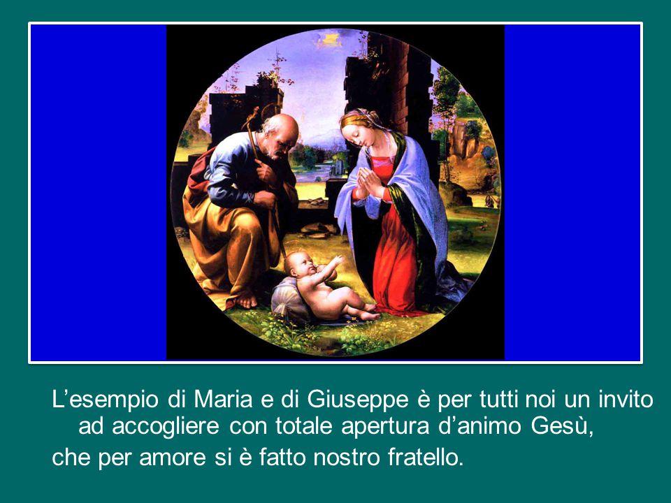 Nel mistero del Natale, accanto a Maria c'è la silenziosa presenza di san Giuseppe, come viene raffigurata in ogni presepe – anche in quello che potete ammirare qui in Piazza San Pietro.