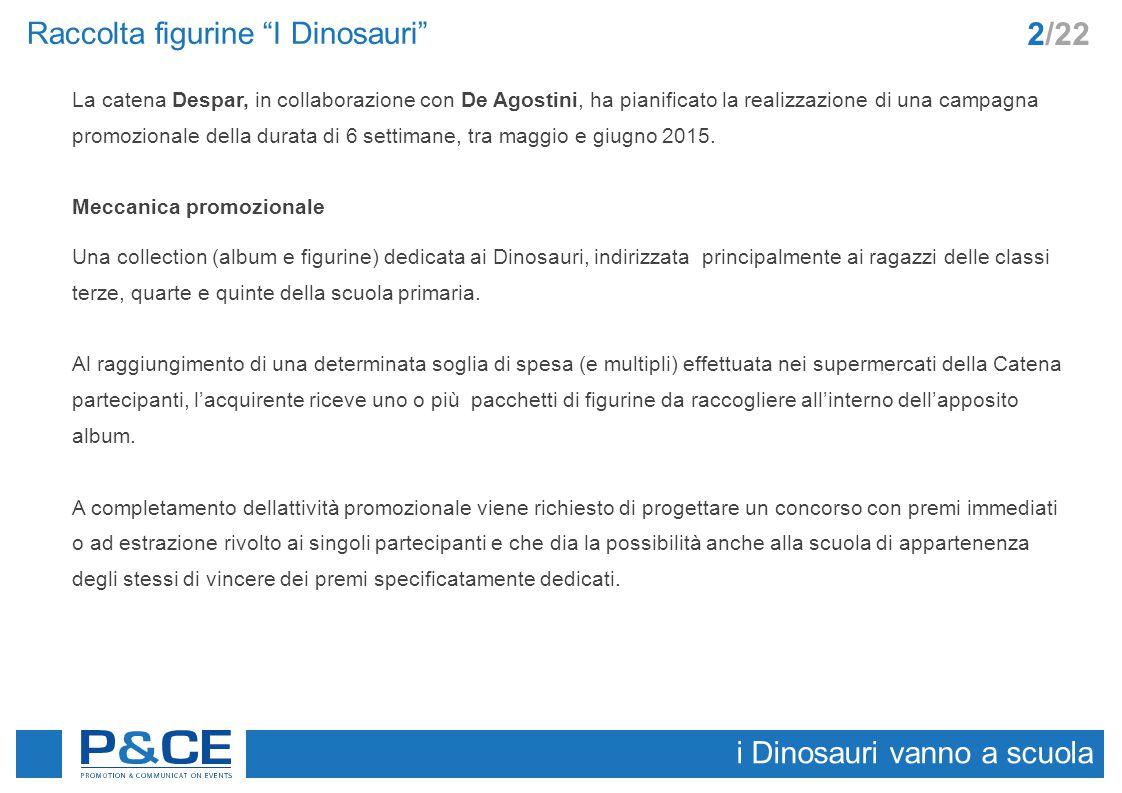 I Dinosauri nelle scuole Per aumentare la notorietà della attività promozionale prevista elenchiamo di seguito alcuni possibili interventi che coinvolgono il target attraverso gli ambienti ed i media di riferimento.