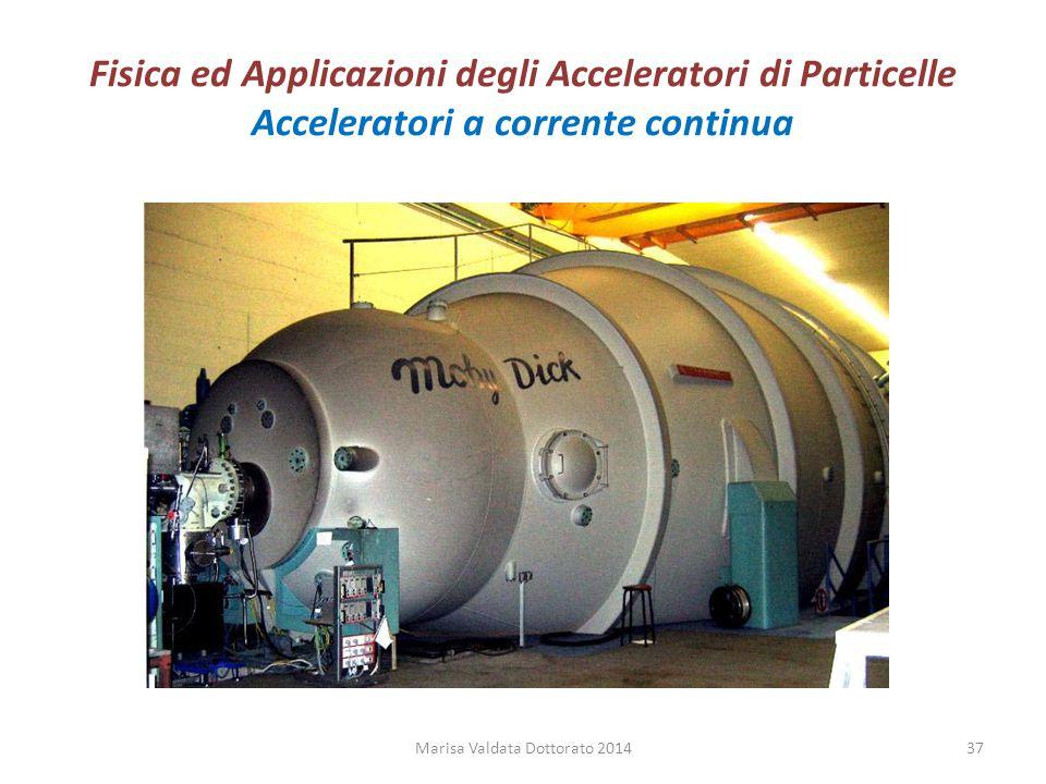Fisica ed Applicazioni degli Acceleratori di Particelle Acceleratori a corrente continua Marisa Valdata Dottorato 201437